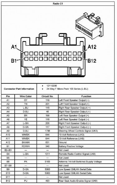 2013 Chevy Malibu Radio Wiring Diagram Di 2020
