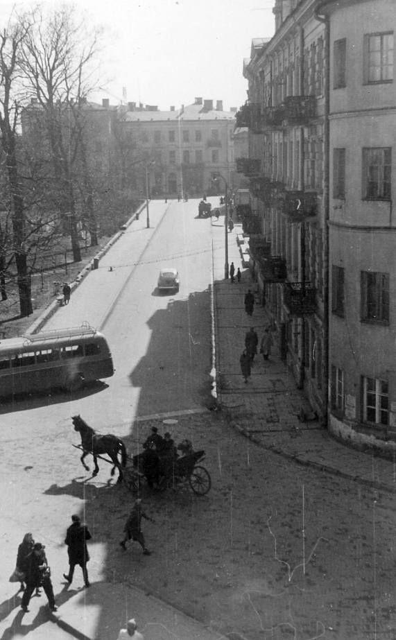 Ulica Ewangelicka, Lublin lata 50. XX w. fot. Adam Haliniarz