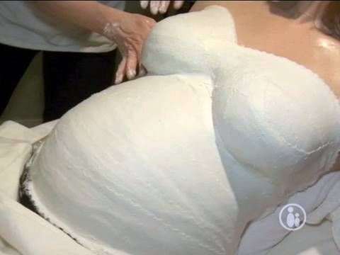 Gipsabdruck Babybauch bemalen - Video Anleitung - YouTube