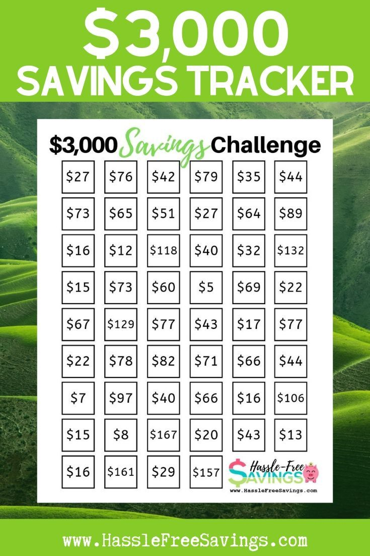 Challenge Yourself To Save 3 000 With This Free Printable