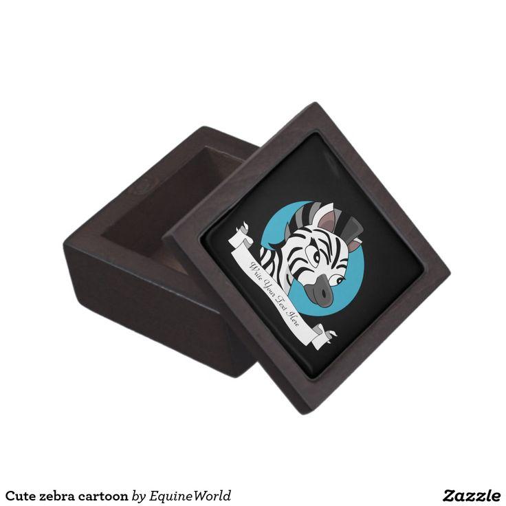 Cute zebra cartoon premium gift box