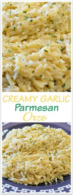 An UN-Believably Amazing Garlic Parmesan Orzo recipe that will rock your world! #orzo #garlic #happilyunprocessed