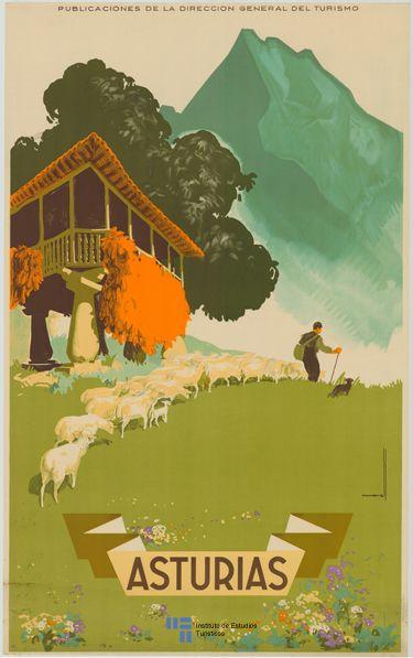 #Poster de #turismo de #Asturias del año 1940 / #Span España