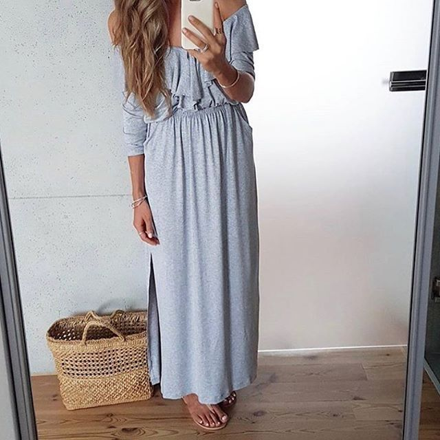 MAXI idealna? Mówisz-masz! Nie zastanawiaj się❤️❤️❤️Rabat trwa jeszcze do północy 😎🙀😎aż 20% na hasło: szokrabat ➡️www.mosquito.pl #ootd #wwwmosquitopl #onlinestore #shoppingtime #onlineshopping #zakupy #sukienka #sukienkamaxi #sukienkamosquito #sukienkamosquito #sukienkanawakacje #falbanki #dress #grey #zakupy #stylizacja #taniej #rabat @tojajoanna