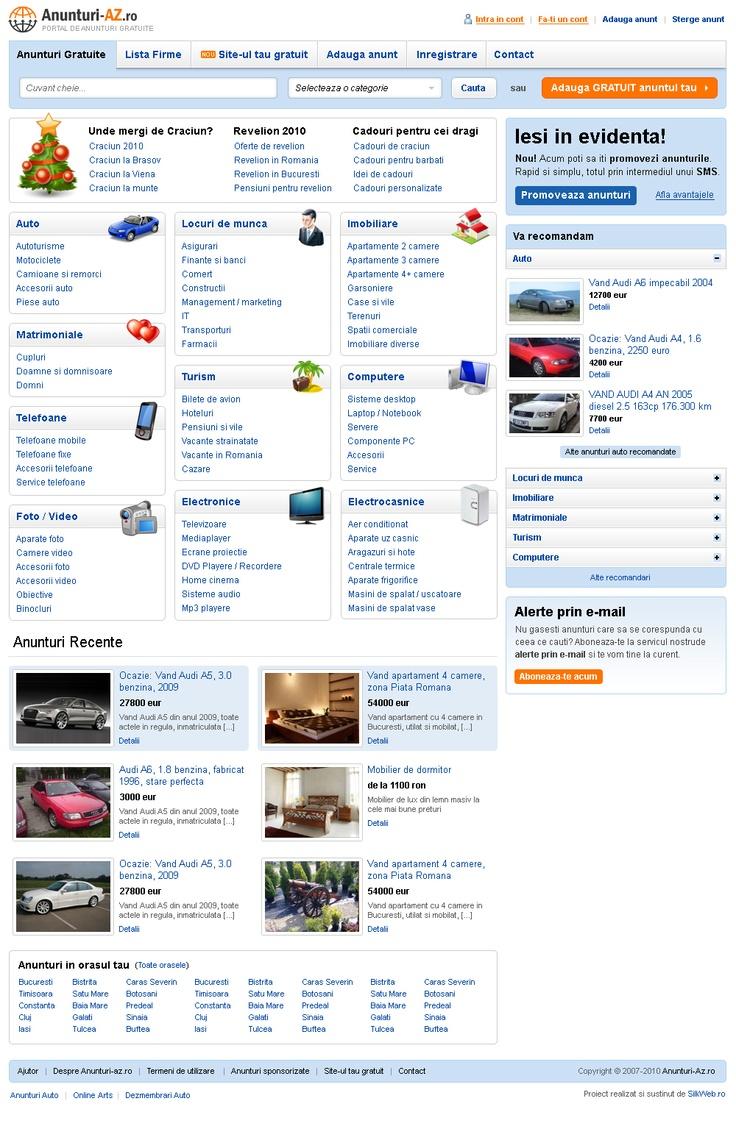 web design portal anunturi