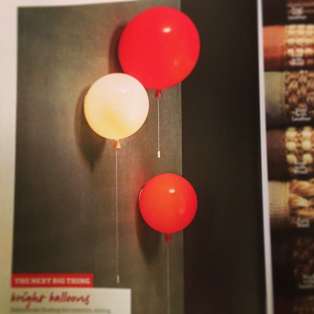 "Thanks mybeardedpigeon for the Instagram about our March 2013 issue! ""How much do I LOVE these balloon lights made of glass in latest insideoutmag"""
