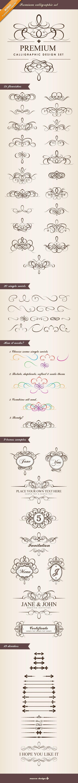 Premium Calligraphic Design Set by Mocca Design. - cute-tattoo.com