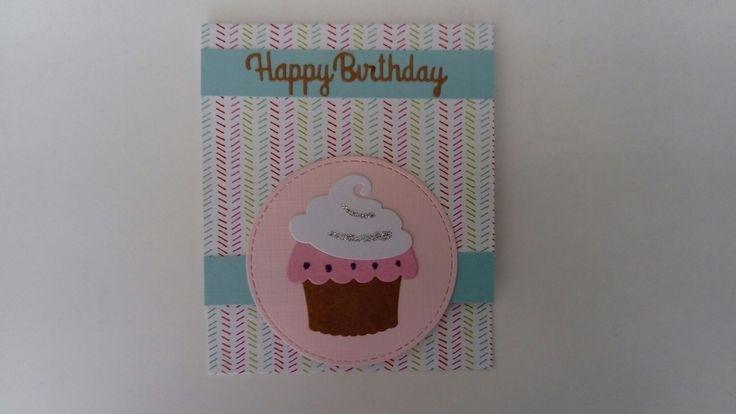 Cadeau envelopje met cupcake