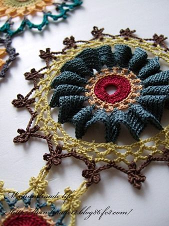 crochet lace motif by M's handmade life