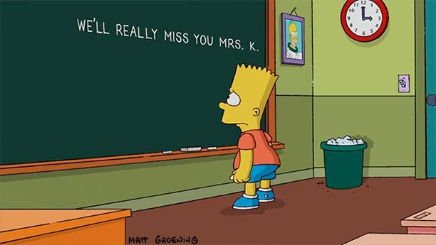 Farewell, Mrs. Krabappel: 'The Simpsons' pays touching tribute to Marcia Wallace | EW.com  It's not funny, because it's true.