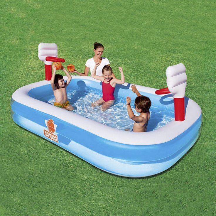 Bestway Inflatable Baby Pool Splash & Play Basketball Bath Tub