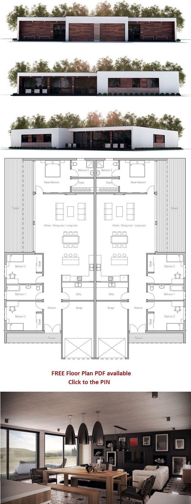 Duplex House Plan, New Home