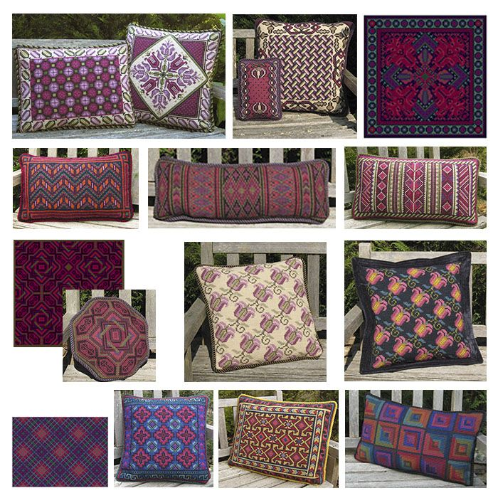 cross-point kits in plums and purples - see more on the blog under color schemes at http://cross-pointblog.com