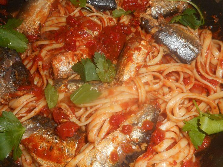 Linguines+aux+sardines+a+l+huile+d+olive