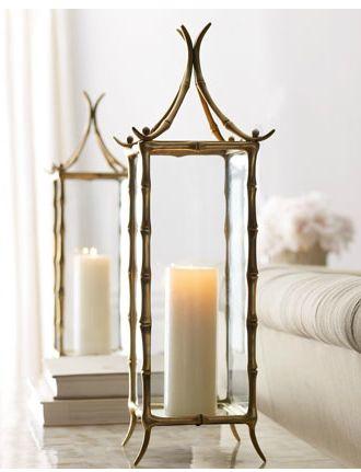Candle Pagoda Hurricane Lanterns - Horchow