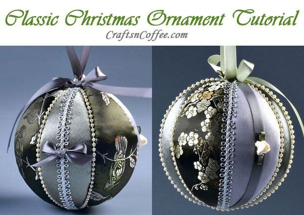 Easy tutorial for making these classic ornaments on CraftsnCoffee.com.