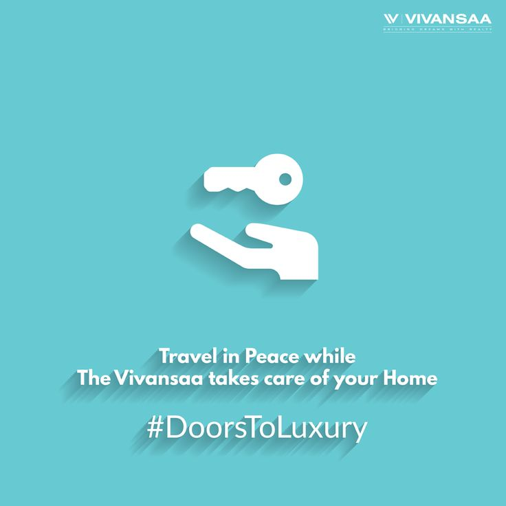 #DoorsToLuxury We know you can't take care of your #home as well as #travel and go out on a #holiday with your #family, so, we take the responsibility of maintaining your home just the way you would. For more please visit us on http://thevivansaa.com/