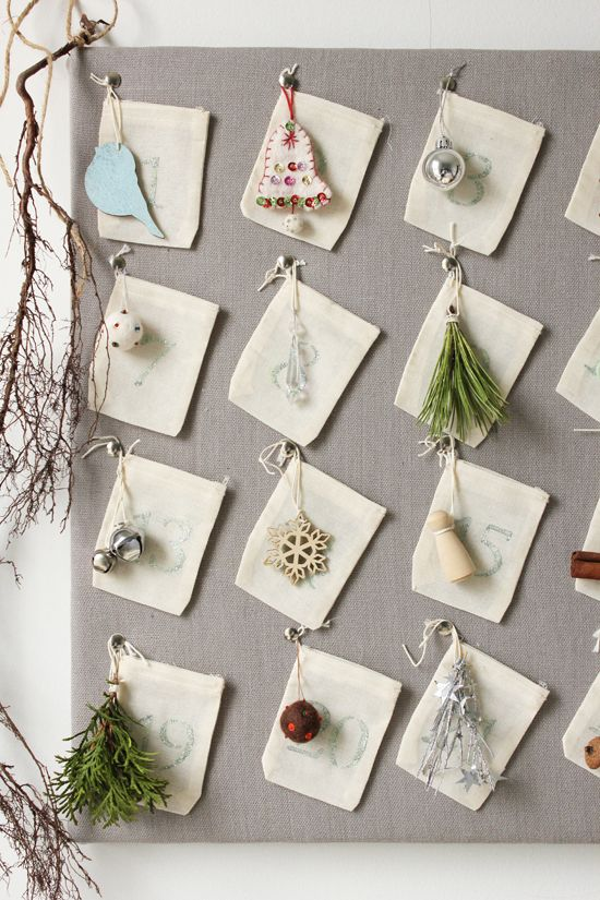 Simple, pretty DIY advent calendar.