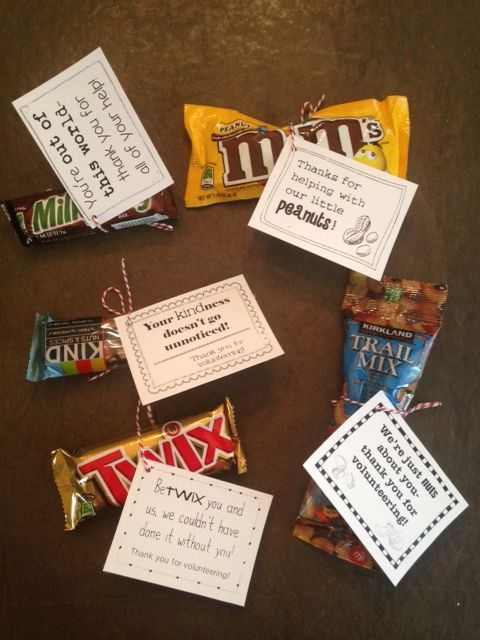 Volunteer Thank-You Gifts (30 gift tags!)