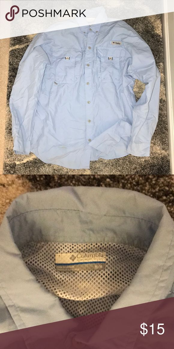 Columbia Men's LS PFG Shirt Great Condition Columbia Shirts Casual Button Down Shirts