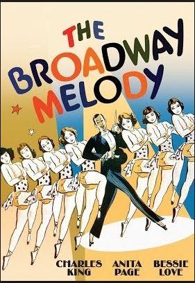 La Academia premia con el Oscar como mejor película The Broadway Melody, La melodia de Brodway todo esto en 1929