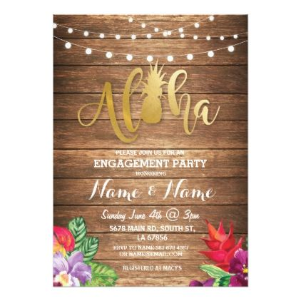 #engagement #party #invitations - #Tropical Luau Aloha Floral Engagement Party Invite