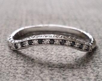 Blanco diamante boda banda piedra preciosa anillo de compromiso personalizado redondo Halo configuración anillo 14K de oro blanco y negro tamaño