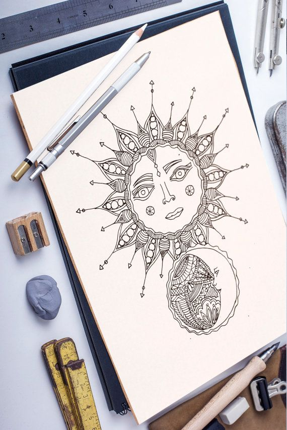MoonSun adult coloring page