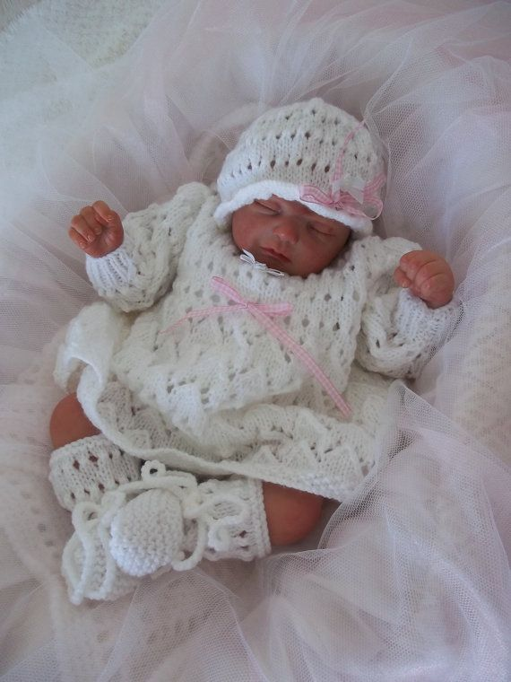 Free Teddy Knitting Patterns : Baby Knitting Pattern - PDF Download Knitting Pattern - Newborn Baby Girls or...