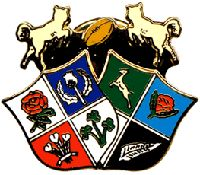 shield In 1929 a club member, I.M.B. Stuart designed a club emblem consisting of two shields. One had the emblems of the home nations on it and the other, emblems from the commonwealth. The gamboling lambs were kept and were depicted jumping between the shield chasing after a rugby ball.