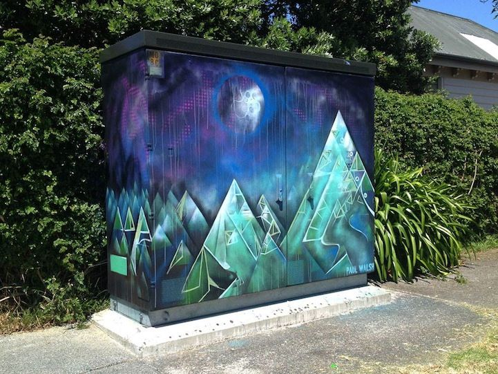 Artist Transforms New Zealand's Utility Boxes with Graffiti