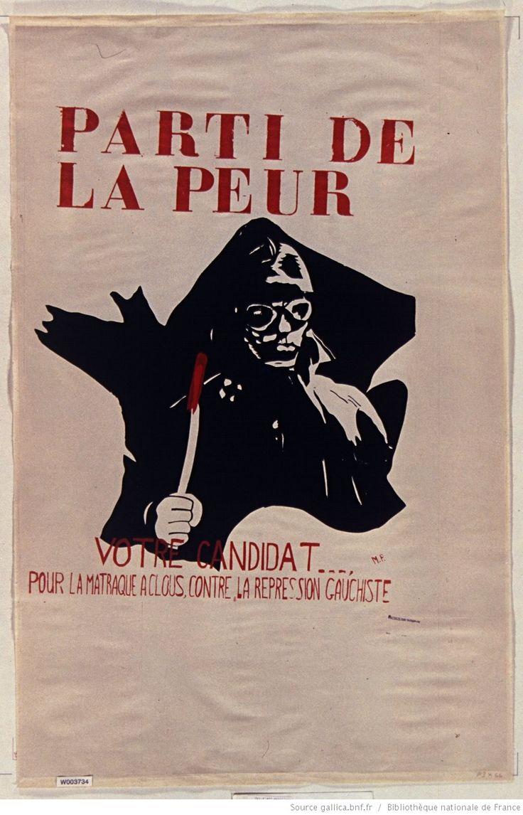 [Mai 1968]. La Parti de la peur, [Faculté des sciences] : [affiche] / [non identifié]