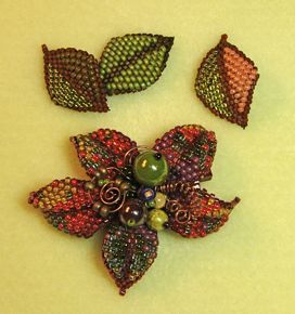 146 best Beaded Flowers images on Pinterest | Seed beads, Beaded ...