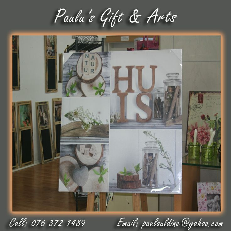 We have these simple 'huis' canvas 's to add that last perfect touch to your home.  Come have a look at the Diaz Convenience Market. Or simply give us a call:  076 372 1489 #Gifts #Art #Crafts