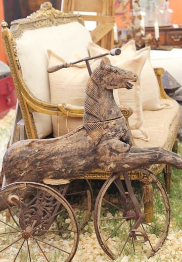 Victorian horse tricycle