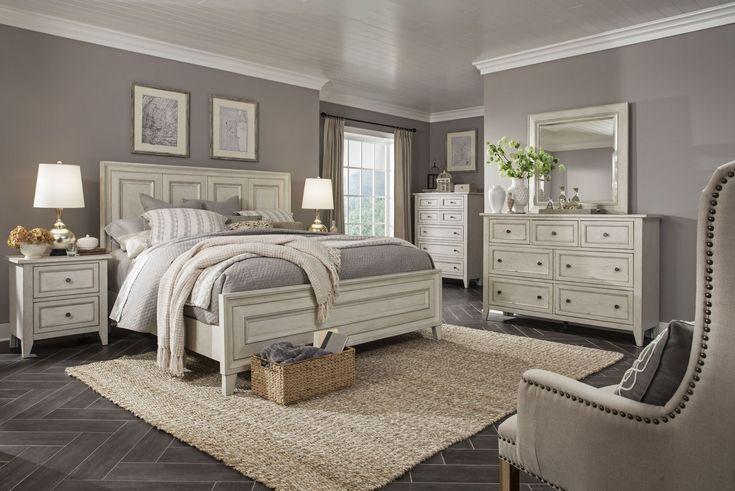Raelynn Weathered White Panel Bedroom Set In 2020 King Bedroom Sets California King Bedroom