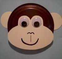 monkey paper plate - Google Search