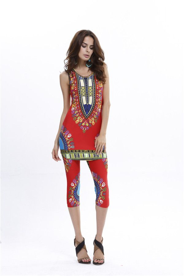 Dmart7deal summer two-piece suit set traditional african clothing dashiki african print pants and shirt plus size dashikis D28-AA38-EZ