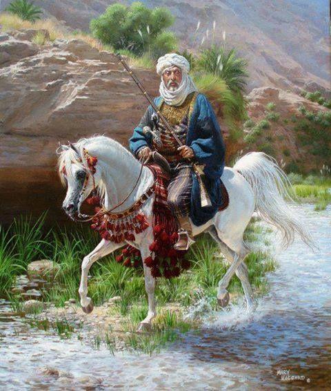 Sheik on his favorite Arabian