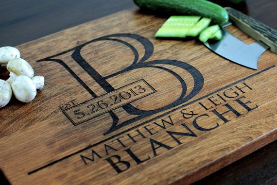 Wedding Gift Personalised: Engraved Cutting Board, Cutting Board