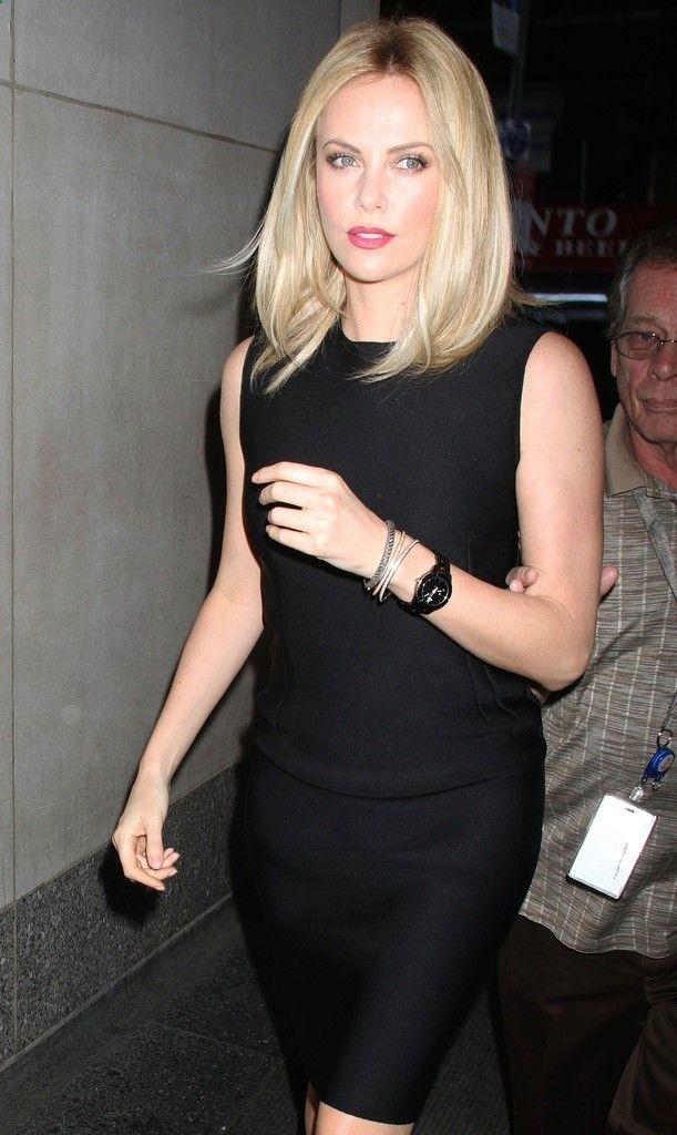 Charlize Theron Hair - Blonde LOB   Hair   Pinterest