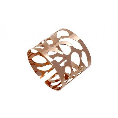 """""""Elliptic"""" Bracelet: pink gold plated"""