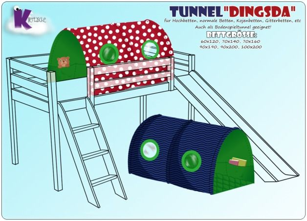 Nähanleitungen Wohnen - Ebook Tunnel DingsDa | KillerTasches-Shop bei DaWanda