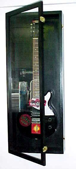 Guitar Display Case Wood Acoustic Electric Guitar Case #PDC