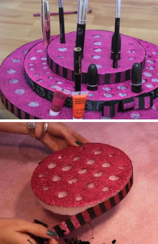 DIY Vanity Tray - DIY Makeup Organization Ideas