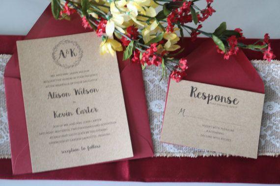 Wedding Suite  Formal Invitation Kraft Wedding Invite