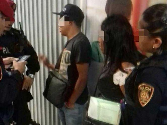 Detienen a tres sujetos por robo en estaciones del Metro