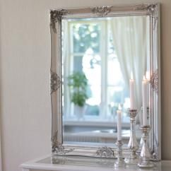 Spegel Antik 70x90 cm - fattigmanssilver