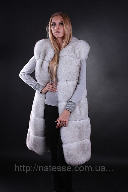 Finn Finland polarfox polar fox long fur vest fur waist coat fur gilet fur sleeveless coat Length=100 cm from shoulder Sizes S, M Price $ 2025/ € 1480 Delivery worldwide Жилет жилетка из финского вуалевого песца, длина 100 см