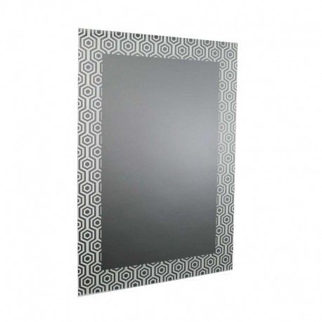 espejo pared rectangular cristal oscuro hexgonos casual mirror espejo pared